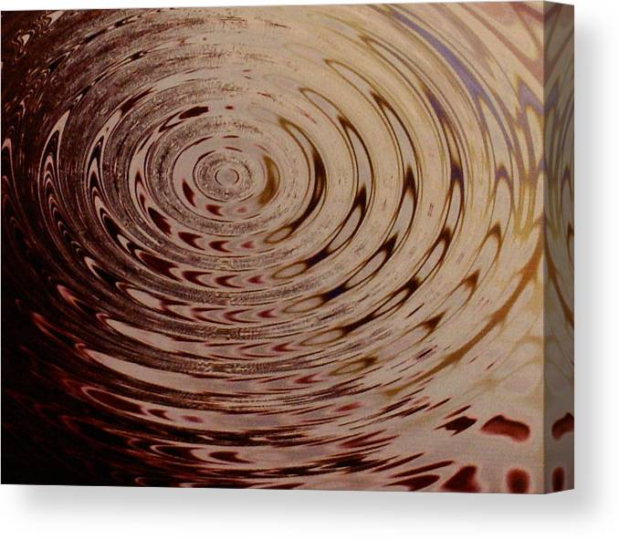 Abstract Canvas Print featuring the photograph White Circle by Lorenzo Roberts