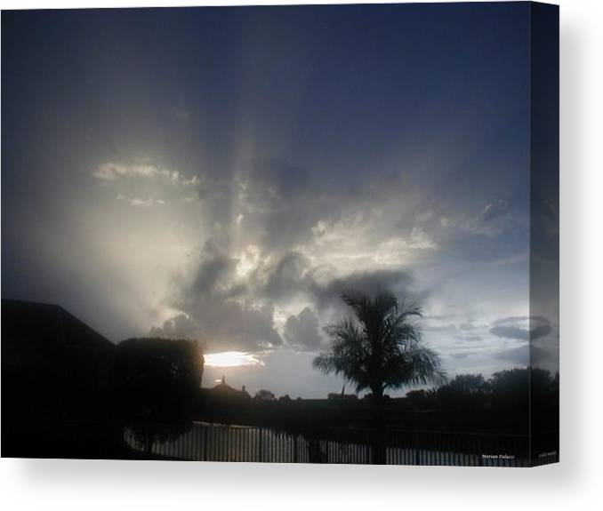 Sunset Canvas Print featuring the photograph White Light by Marian Palucci-Lonzetta