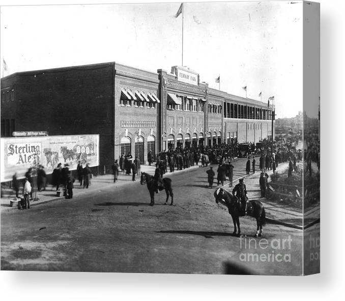 Horse Canvas Print featuring the photograph National Baseball Hall Of Fame Library by National Baseball Hall Of Fame Library