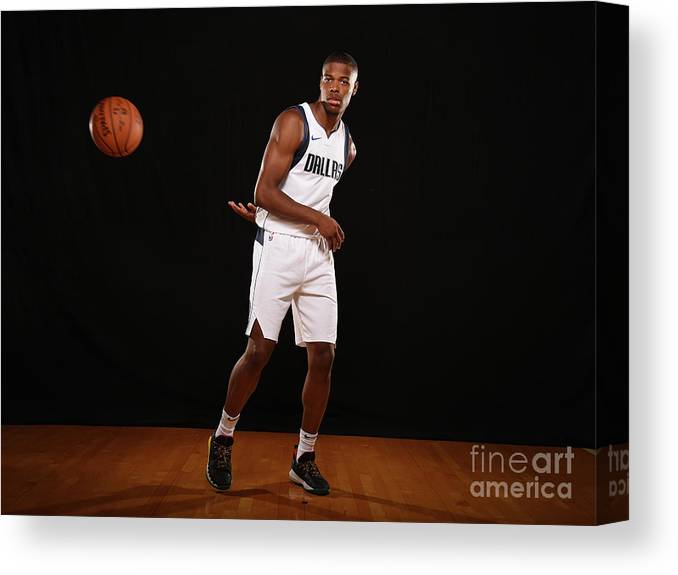 Nba Pro Basketball Canvas Print featuring the photograph 2017 Nba Rookie Photo Shoot by Brian Babineau