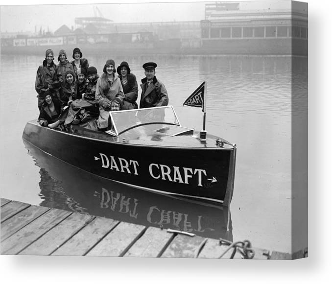 Motorboat Canvas Print featuring the photograph Dart Craft by Fox Photos