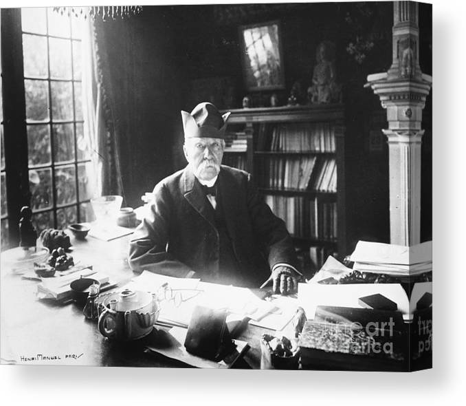 People Canvas Print featuring the photograph French Statesman Georges Clemenceau by Bettmann