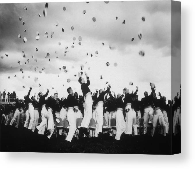 Armed Forces Canvas Print featuring the photograph Graduation Day by Keystone Features