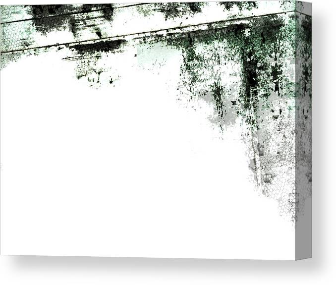 Material Canvas Print featuring the photograph Grunge Border by Akirastock