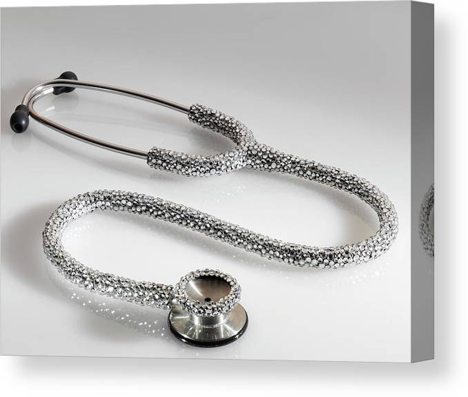Expertise Canvas Print featuring the photograph Jewelled Stethoscope by Terry Mccormick