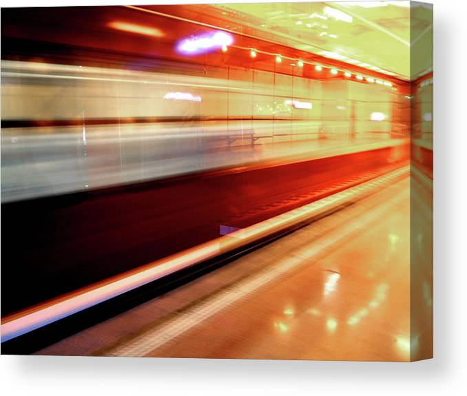 Train Canvas Print featuring the photograph Red Train by Mikel Ortega
