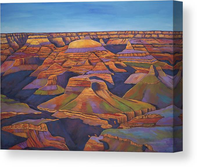 Grand Canyon Canvas Print featuring the painting Shadows and Breezes by Johnathan Harris