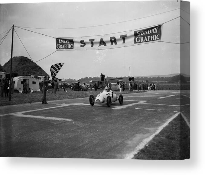 People Canvas Print featuring the photograph Stirling Moss by Jimmy Sime