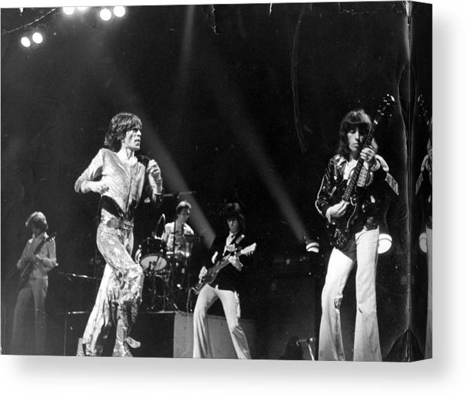 Rock Music Canvas Print featuring the photograph Stones Concert by Graham Wiltshire