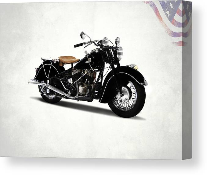 Indian Chief 1946 Canvas Print featuring the photograph The Chief 1946 by Mark Rogan