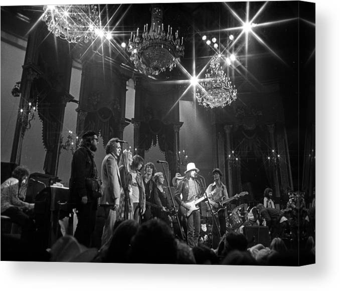 San Francisco Canvas Print featuring the photograph The Last Waltz Concert by Michael Ochs Archives