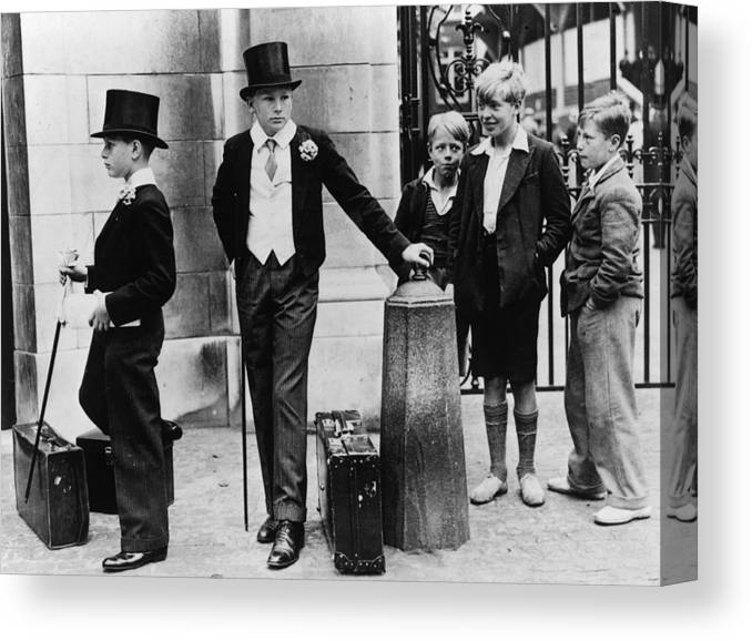 Education Canvas Print featuring the photograph Toffs And Toughs by Jimmy Sime