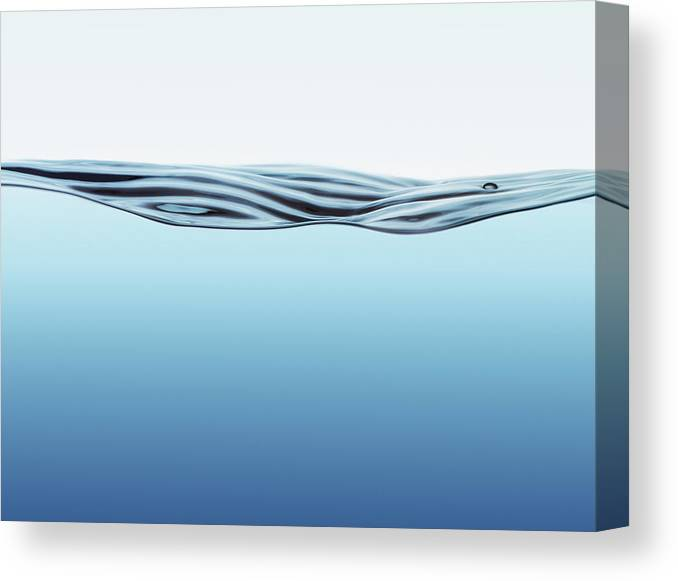 Spray Canvas Print featuring the photograph Water Surface With Big Wave by Kedsanee