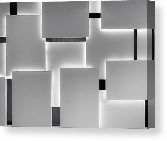 Rectangle Canvas Print featuring the photograph Abstract background by Liyao Xie