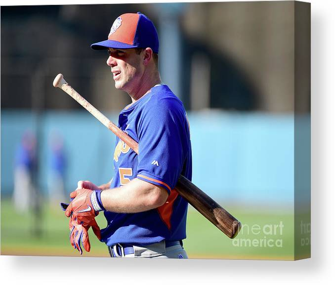 People Canvas Print featuring the photograph David Wright by Harry How
