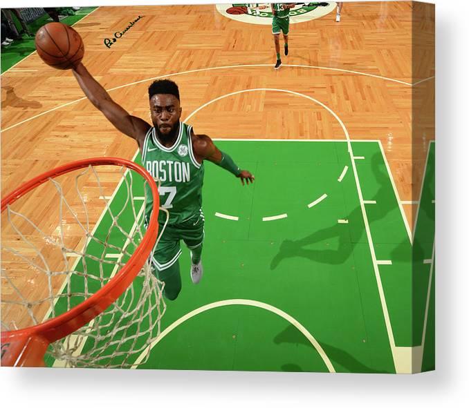 Nba Pro Basketball Canvas Print featuring the photograph Jaylen Brown by Jesse D. Garrabrant