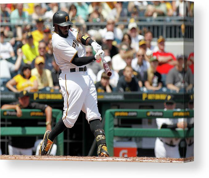 People Canvas Print featuring the photograph Josh Harrison by Justin K. Aller