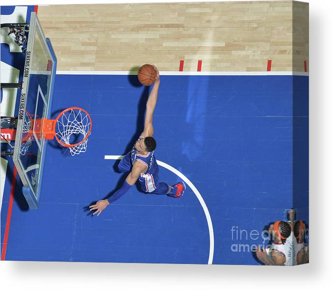 Sports Ball Canvas Print featuring the photograph Ben Simmons by Jesse D. Garrabrant
