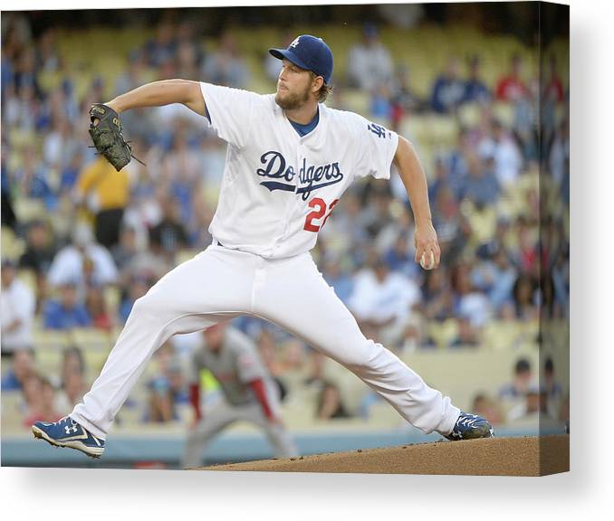 Clayton Kershaw Canvas Print featuring the photograph Clayton Kershaw by Harry How