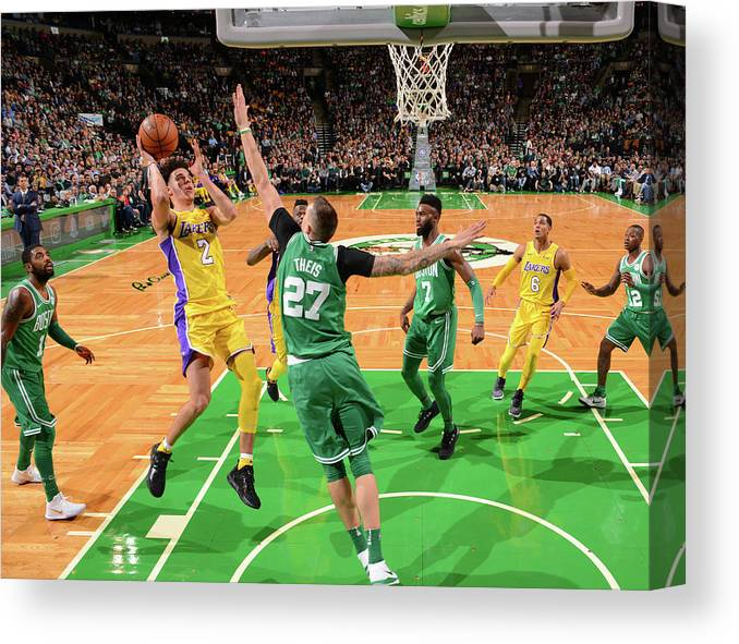Nba Pro Basketball Canvas Print featuring the photograph Lonzo Ball by Jesse D. Garrabrant