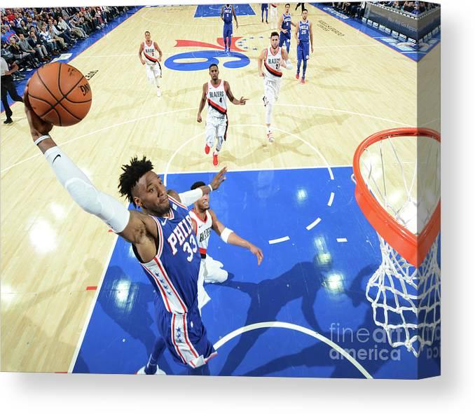 Nba Pro Basketball Canvas Print featuring the photograph Robert Covington by Jesse D. Garrabrant