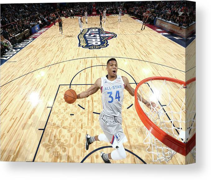 Event Canvas Print featuring the photograph Giannis Antetokounmpo by Nathaniel S. Butler