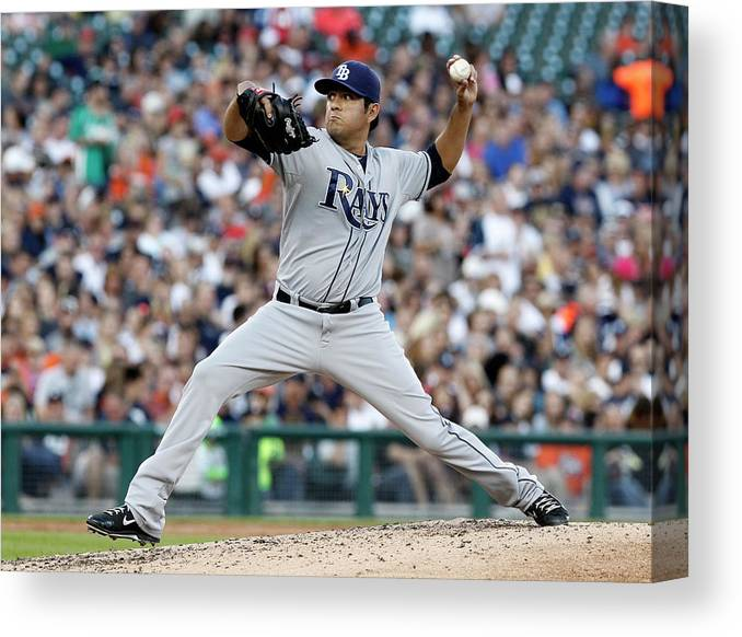 American League Baseball Canvas Print featuring the photograph Cesar Ramos by Duane Burleson