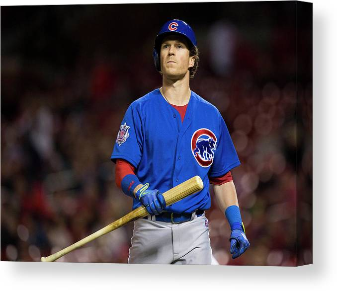 Ninth Inning Canvas Print featuring the photograph Chris Coghlan by David Welker