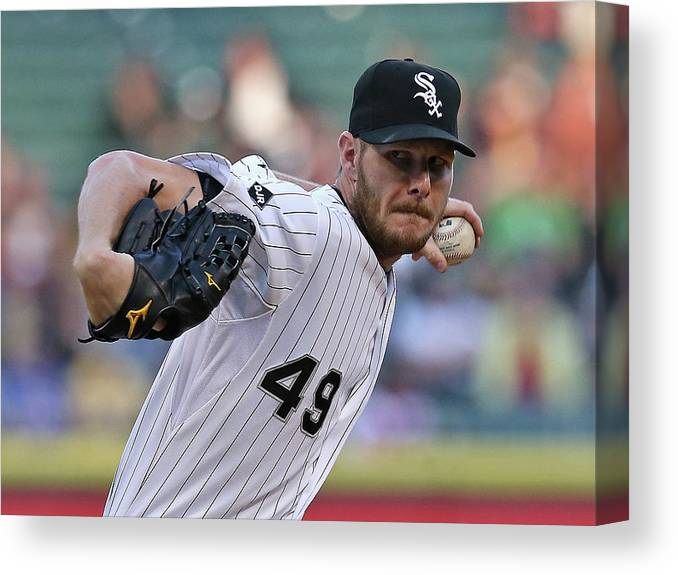 American League Baseball Canvas Print featuring the photograph Chris Sale by Jonathan Daniel