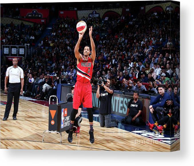 Event Canvas Print featuring the photograph C.j. Mccollum by Nathaniel S. Butler