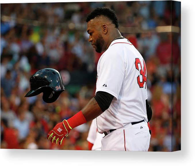 Headwear Canvas Print featuring the photograph David Ortiz by Winslow Townson