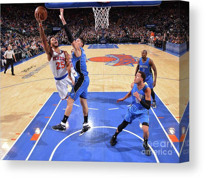 Nba Pro Basketball Canvas Print featuring the photograph Derrick Rose by Jesse D. Garrabrant