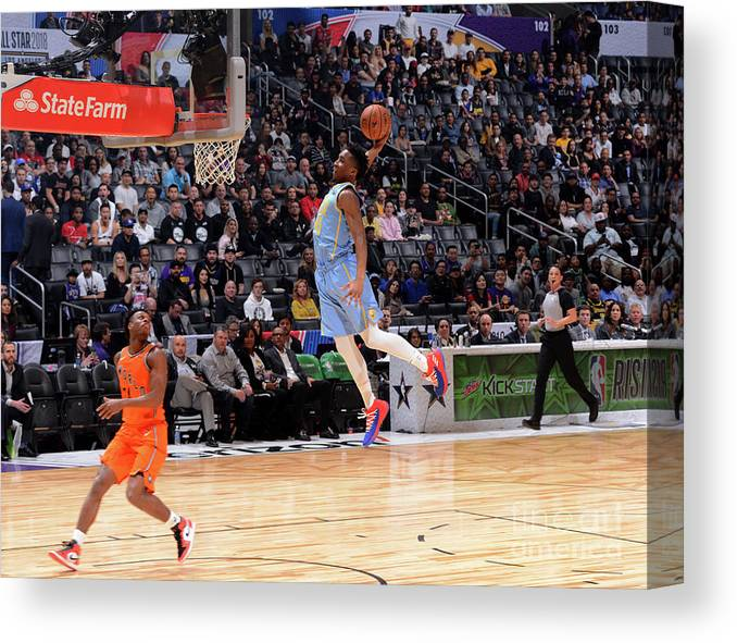 Event Canvas Print featuring the photograph Donovan Mitchell by Jesse D. Garrabrant