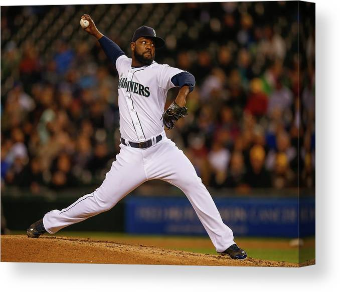 Ninth Inning Canvas Print featuring the photograph Fernando Rodney by Otto Greule Jr