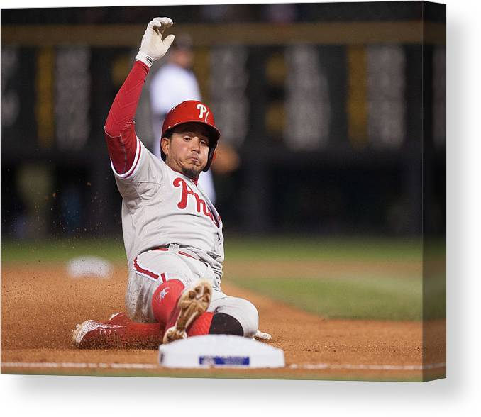 People Canvas Print featuring the photograph Freddy Galvis by Dustin Bradford