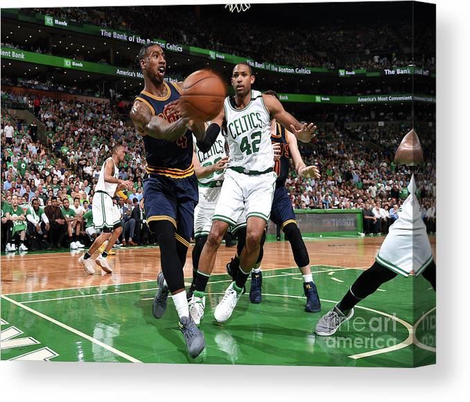 Playoffs Canvas Print featuring the photograph Iman Shumpert by Brian Babineau