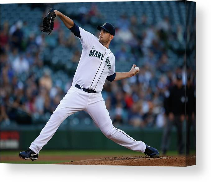 American League Baseball Canvas Print featuring the photograph James Paxton by Otto Greule Jr