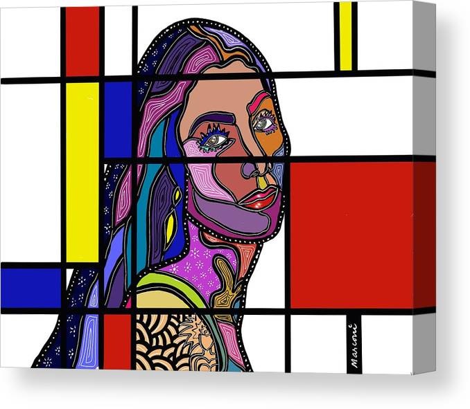 Marconiart Canvas Print featuring the digital art Marconi-Drian #3 by Marconi Calindas