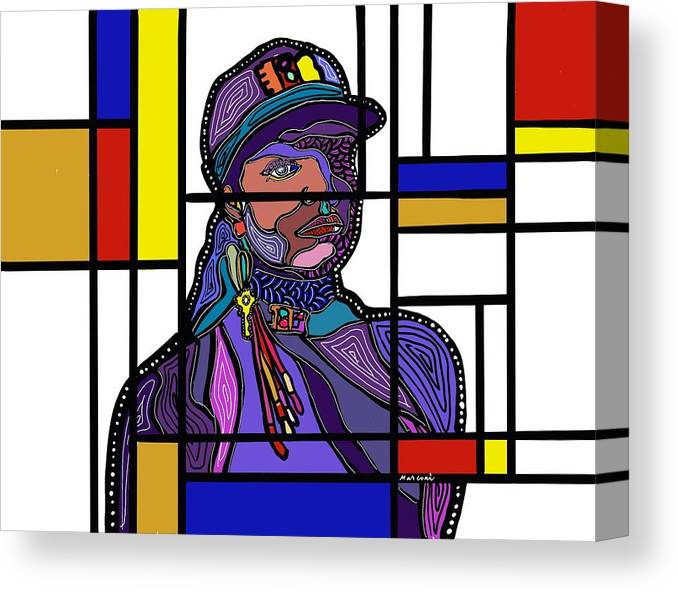 Marconi Art Canvas Print featuring the digital art Marconi-Drian #6 by Marconi Calindas