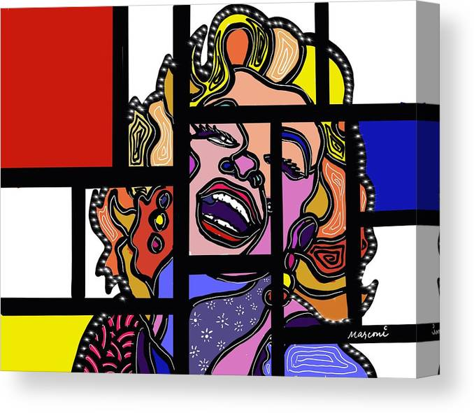 Marconi Art Canvas Print featuring the digital art Marconi-Drian #7 by Marconi Calindas