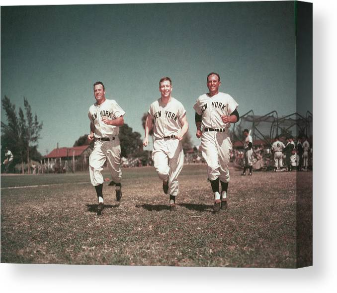 American League Baseball Canvas Print featuring the photograph Mickey Mantle by Hulton Archive