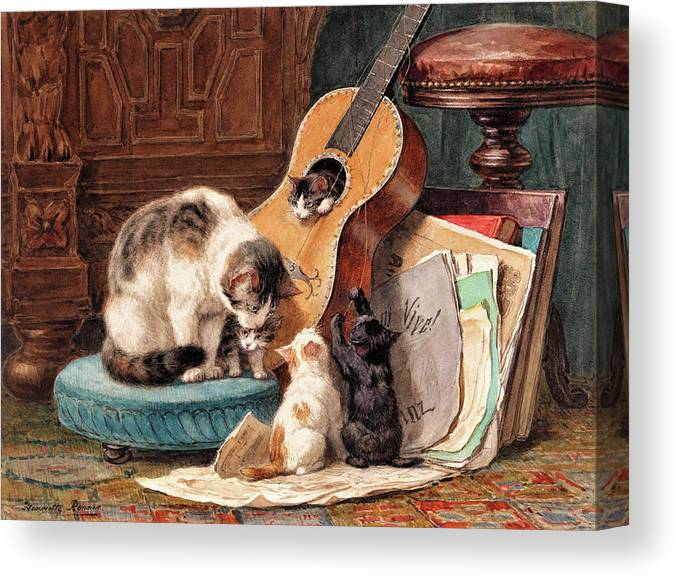 Musician Canvas Print featuring the painting Musician - Digital Remastered Edition by Henriette Ronner-Knip