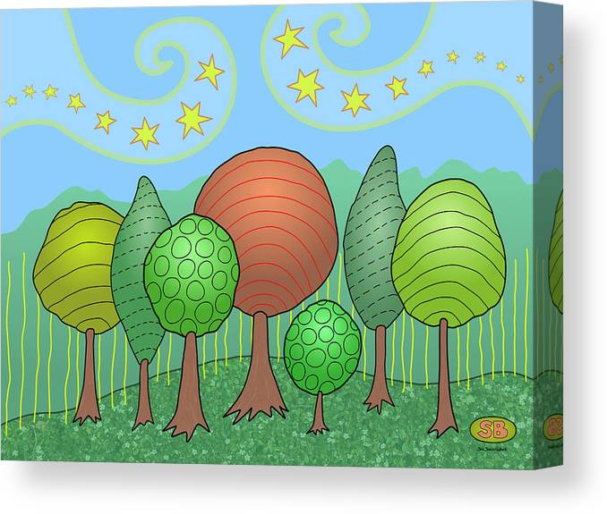 Family Canvas Print featuring the digital art My Family by Susan Bird Artwork