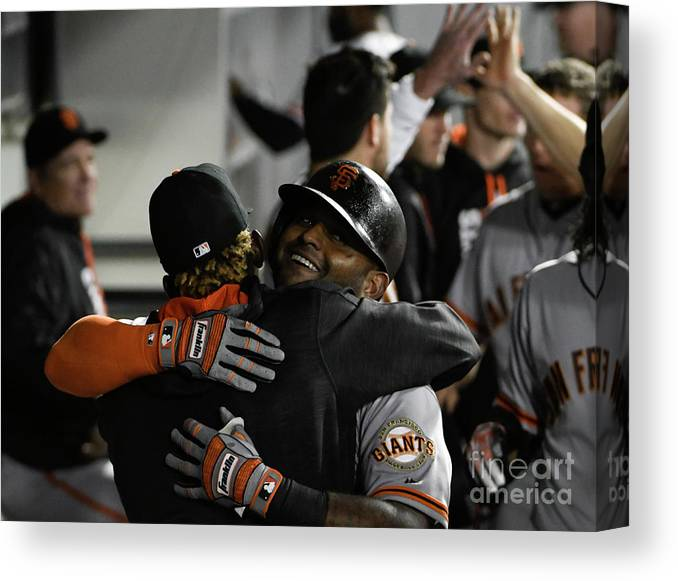 American League Baseball Canvas Print featuring the photograph Pablo Sandoval by David Banks