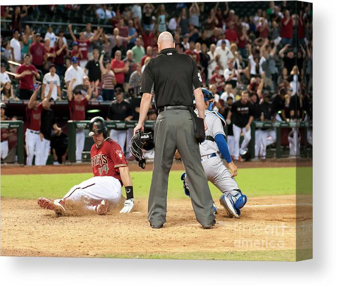 American League Baseball Canvas Print featuring the photograph Paul Goldschmidt by Darin Wallentine