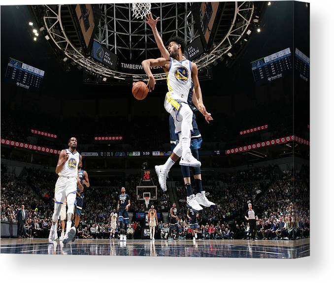 Nba Pro Basketball Canvas Print featuring the photograph Quinn Cook by David Sherman