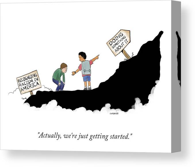 Actually Canvas Print featuring the drawing Actually, We're Just Getting Started by Victor Varnado