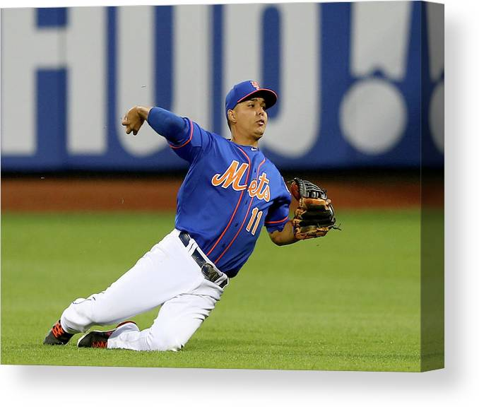 Second Inning Canvas Print featuring the photograph Ruben Tejada by Elsa