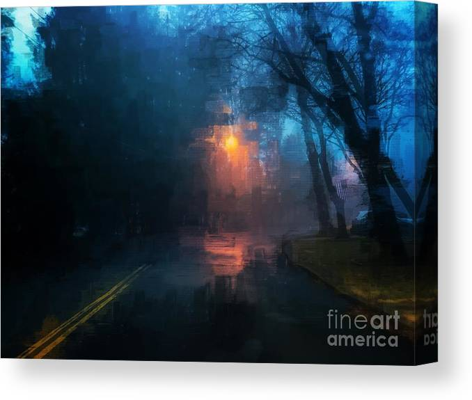 Light Canvas Print featuring the photograph The Light Shines in the Darkness by Eddy Mann