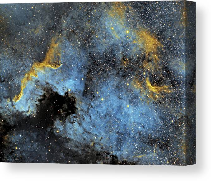 Nebula Canvas Print featuring the photograph The North America Nebula by Prabhu Astrophotography